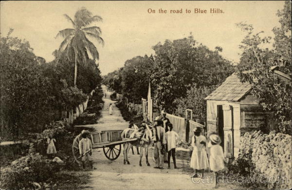 On the road to Blue Hills Bahamas Caribbean Islands