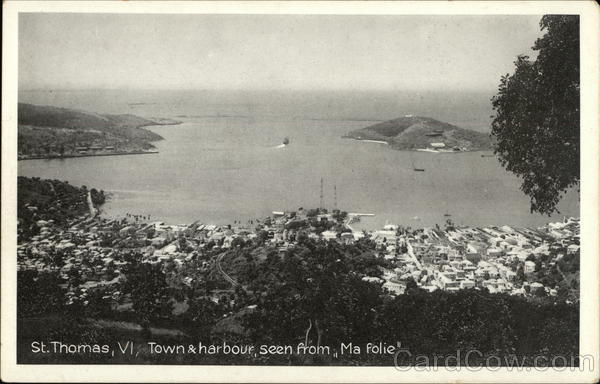Town and Harbor from Ma Folie St. Thomas Virgin Islands
