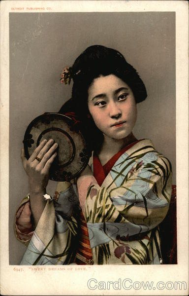 Japanese Woman with Drum