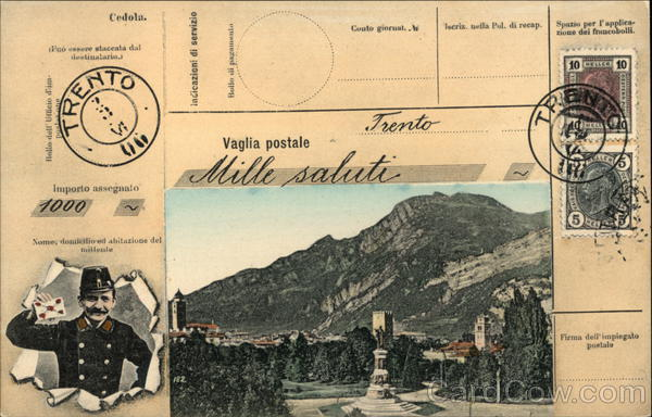 Trental - Postal History Trento Italy Interesting Cancels