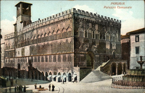 View of the Palazzo Comunale (Town Hall) Perugia Italy