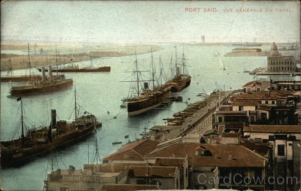 General View of the Suez Canal at Port Said Egypt Africa