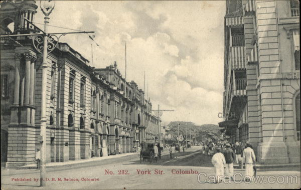 View of York Street Colombo Sri Lanka Southeast Asia