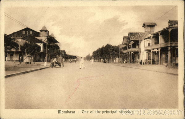 One of the principal streets Mombasa Kenya Africa