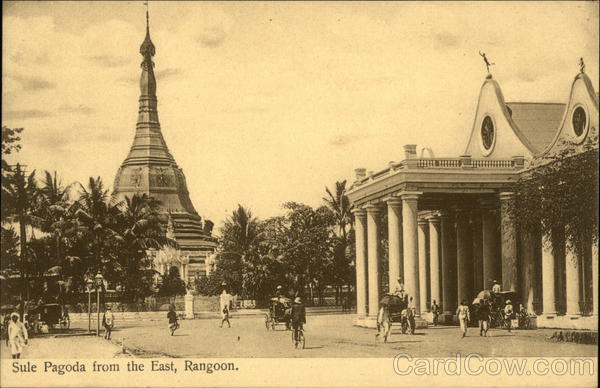 Sule Pagoda from the East Yangon Myanmar Southeast Asia