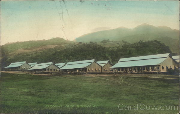 View of Barracks at Camp Eldridge Philippines Southeast Asia