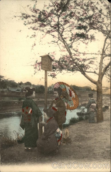 Japanese Women By a River