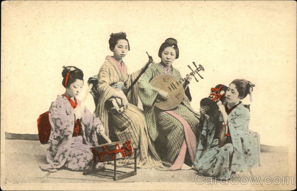 Four Japanese Women with Instruments