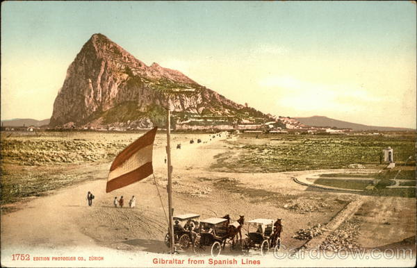 Gibraltar from Spanish Lines United Kingdom