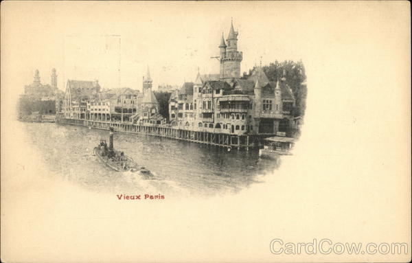 River Seine and Buildings of Old Paris France