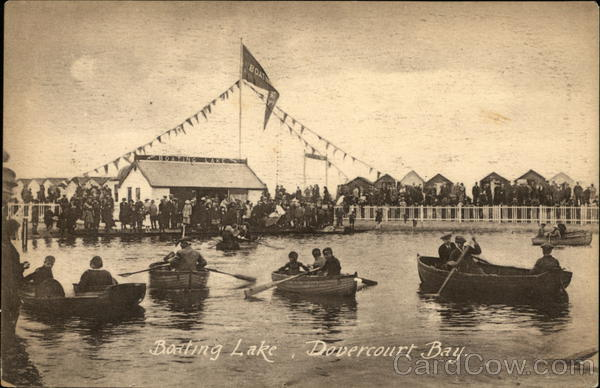Boating Lake, Dovercourt Bay Harwich England Essex