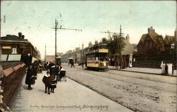 Dudley Road and Summerfield Park Birmingham England