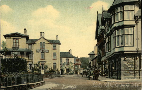 Royal Hotel and Street Scene Bowness England