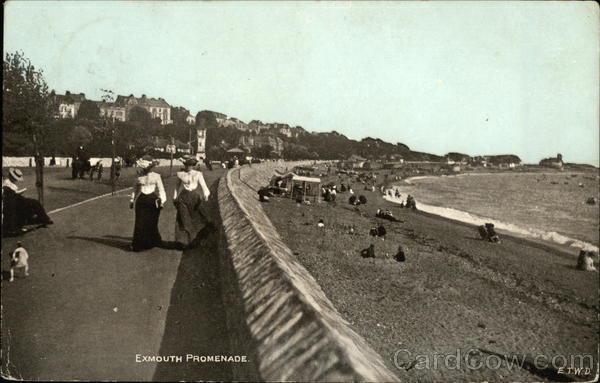Women Walking along Exmouth Promenade United Kingdom