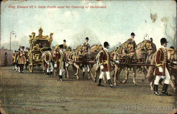 King Edward VII's State Coach used for Opening of Parliament United Kingdom