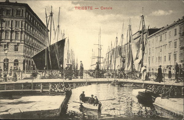 View of Canal Trieste Italy
