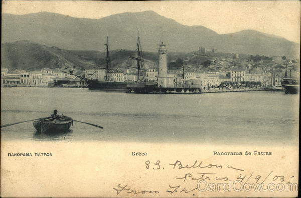 View of Town Patras Greece Greece, Turkey, Balkan States