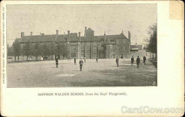 Saffron Walden School Boys Playground England