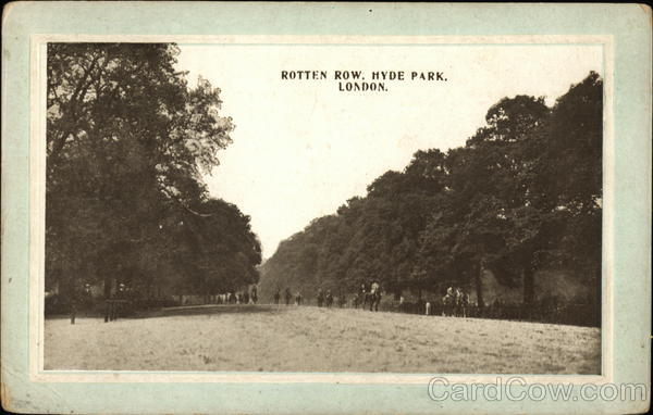 View of Hyde Park's Rotten Row London United Kingdom