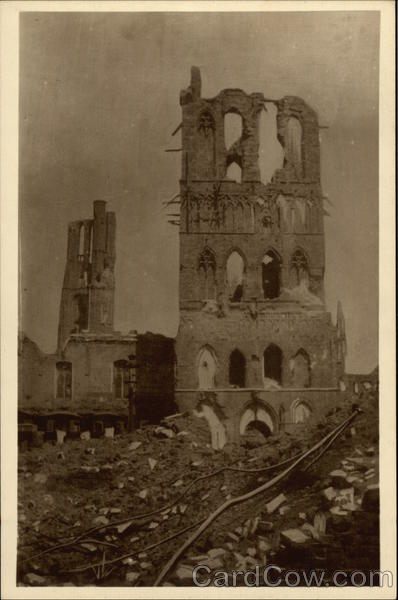 Towers Still Standing, World War I Damage Ypres Belgium