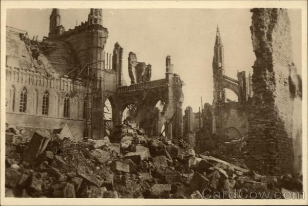 Inside the Cathedral Ypres Belgium Benelux Countries