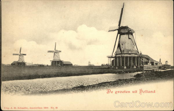 Greetings from Holland The Netherlands J.H. Schaefer