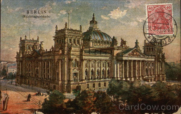 Berlin- the Parliament building Germany Cancelled on Front (COF)