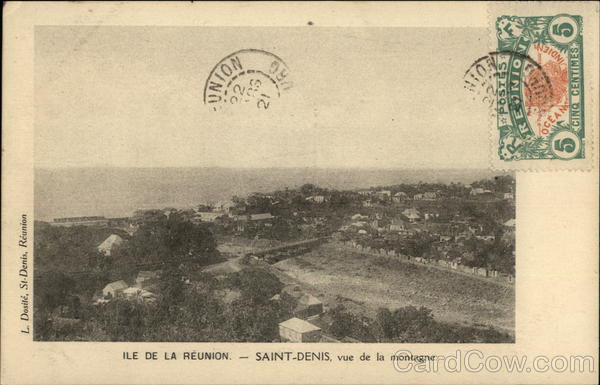 Reunion Island, Mountain View Saint-Denis France Cancelled on Front (COF)