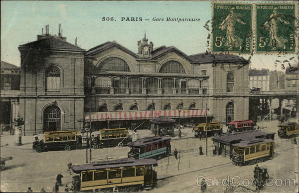 Gare Montparnasse Paris France Cancelled on Front (COF)