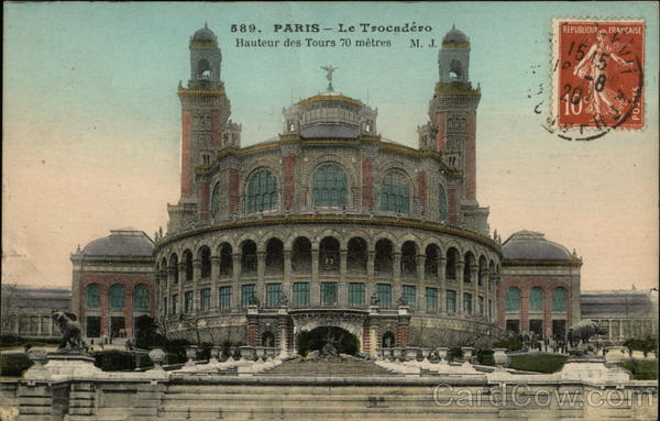 The Trocadero Paris France Cancelled on Front (COF)