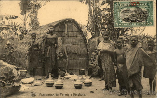 Making Pottery in Kinshasa Democratic Republic of Congo