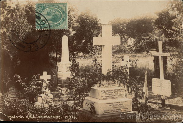 Talana Hill Cemetery South Africa Cancelled on Front (COF)