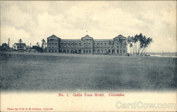 Galle Face Hotel and Grounds Colombo Sri Lanka S. D. H. M.