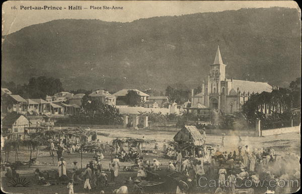 View of Place Ste-Anne Port-au-Prince Haiti Caribbean Islands