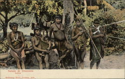 """Indios"" Group of Aboriginal People Postcard"