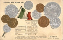 Coin Card with National Flag - Mexico