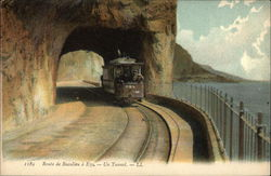 Trolly, Route de Beaulieu a Eze, Un Tunnel