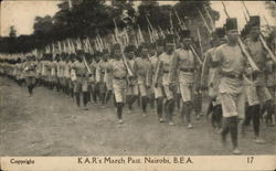 K.A.R.'s March-Past, British East Africa