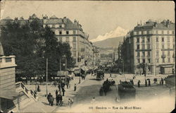 Bustle on Mont Blanc Street, Geneva