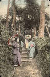 Four Japanese Women in a Garden