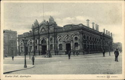 Market Hall, Accrington. Postcard