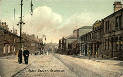View of Abbey Street, Accrington Postcard