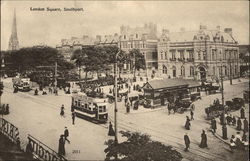 London Square, With Streetcars