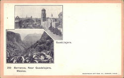 Two Views Near Guadalajara, Including Barranca Postcard