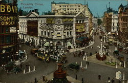 Overhead View of Piccadilly Circus