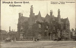 Plough & Harrow Hotel. Edgbaston Postcard