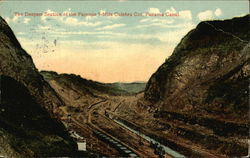 The Deepest Section of the Famous 9-Mile Culebra Cut, Panama Canal.