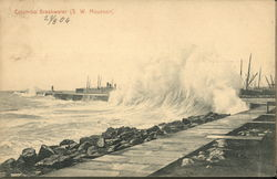 Wave Crashing on Colombo Breakwater (W. W. Mousoon)