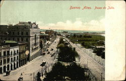 Aerial Shot of Paseo de Julio