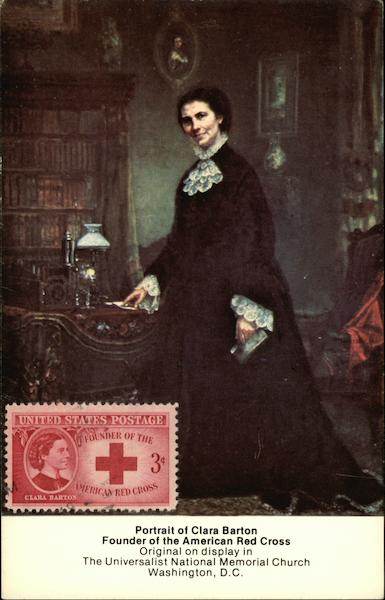 Portrait of Clara Barton, Founder of American Red Cross Washington District of Columbia